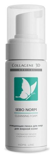"""Очищающая пенка для жирной кожи """"Sebo Norm""""  Medical Collagene 3D"""