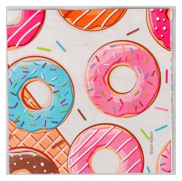 Салфетки бумажные «Пончики», 33х33 см, 20 шт.  NNB