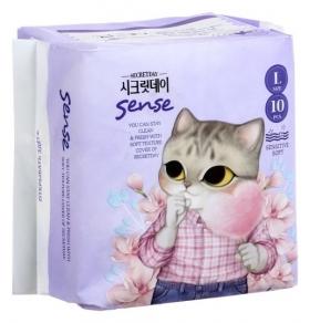 Ультратонкие дышащие прокладки Secretday Sense Large, 10 шт