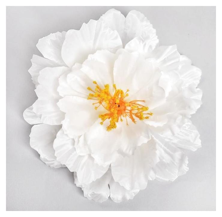 Цветы искусственные для декора, цвет белый  NNB