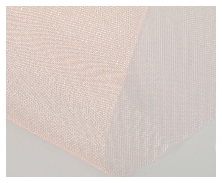 Фатин для свадебного декора, 0,5х0,5 м, персиковый NNB
