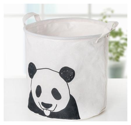 Корзина универсальная «Панда», 30×30×30 см, цвет белый  NNB