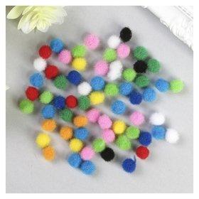 Помпоны для творчества, 10 цветов, 8 мм, (Набор 60 шт)  Остров сокровищ