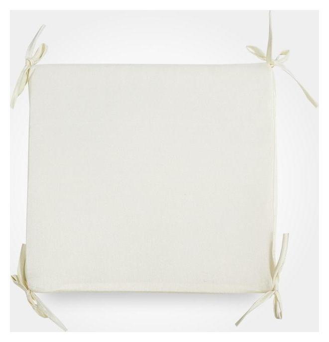 Сидушка на стул бамбук, цвет молочный, 34х34х1,5 см  Witerra