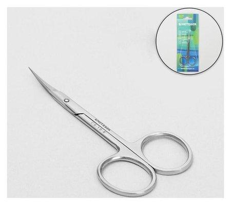 Ножницы маникюрные, для кутикулы, загнутые, узкие, 10 см, цвет серебристый, Cs-1/8-s (CVD)  Metzger