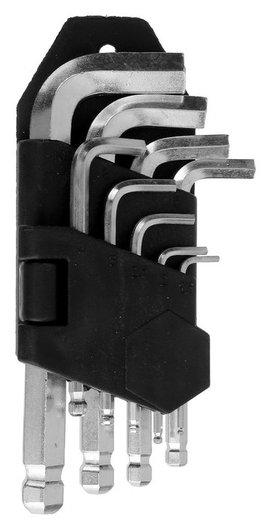 Набор ключей шестигранных Lom, с шаром, 1.5 - 10 мм, 9 шт.  LOM