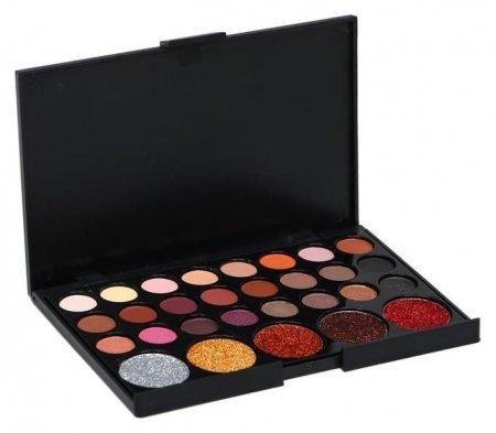 Набор теней 24 цвета и 5 цветов с блестками  NNB
