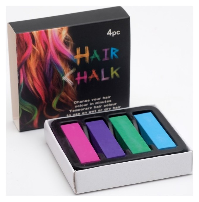 Мелки для волос 4 цвета  NNB