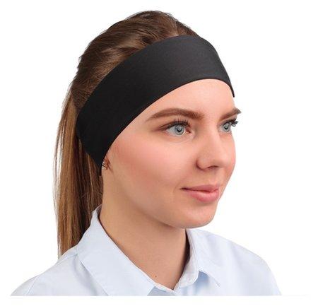Повязка на голову, бифлекс, цвет черный  NNB