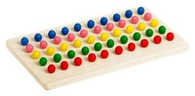 Мозаика,5 цветов, 50 элементов, шарики: 0,7 × 0,7 × 1.7 см, отверстие: 5 мм