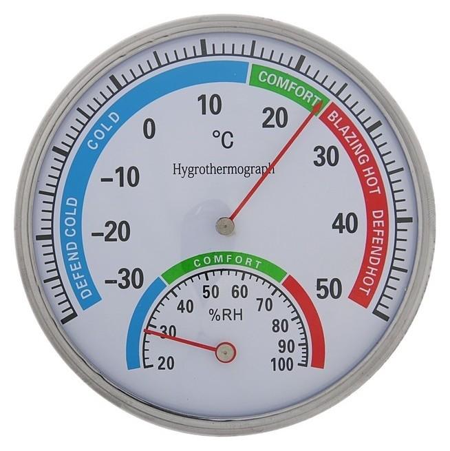 Термометр механический, с гигрометром, уличный, металл  NNB