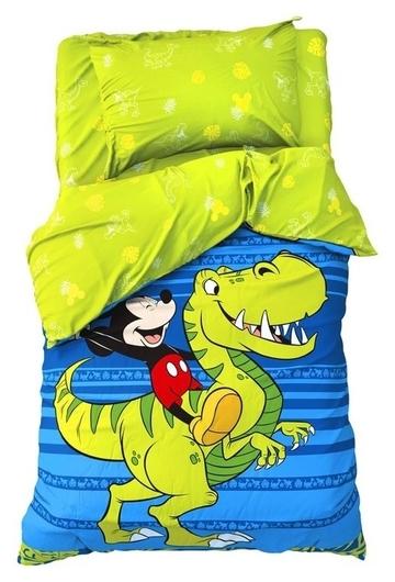 """Детское постельное бельё 1,5 сп """"Jungle"""", микки маус, 143*215 см, 150*214 см, 50*70 см -1 шт, поплин  Disney"""