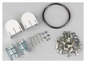 Карниз-струна 10 м, с металлическими зажимами, 60 шт, цвет белый  NNB