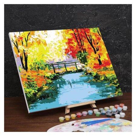 Картина по номерам на холсте с подрамником «Осенний мост» 40×50 см  Школа талантов