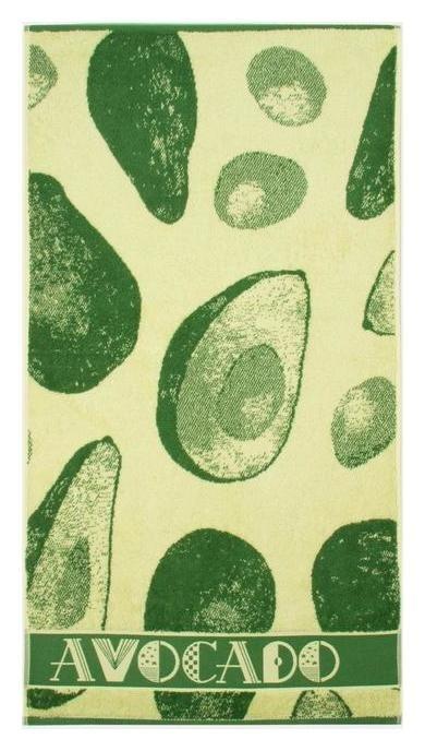 Полотенце махровое «Avocado» цвет зелёный, 70х130 см, 460г/м2  Cleanelly