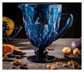 Кувшин «Круиз», 1,1 л, 19,5х14 см, цвет синий