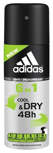 Дезодорант-антиперспирант спрей Cool & Dry 6 в 1  Adidas