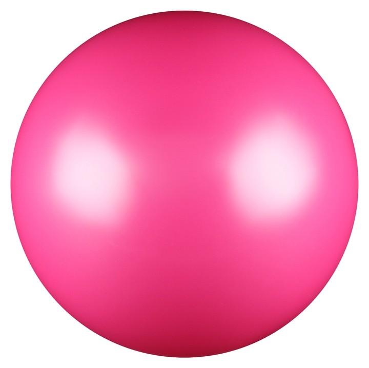 Мяч для художественной гимнастики, силикон, металлик, 15 см 300 г, Ab2803, цвет фуксия  NNB