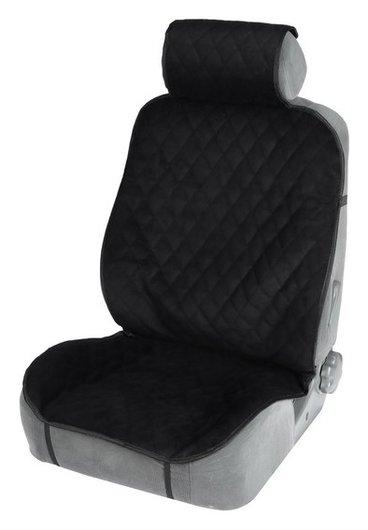 Накидка на переднее сиденье, велюр, размер 55 х 150 см, черный  NNB