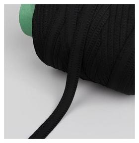 Лента брючная, 15 мм, 200 ± 1 м, цвет чёрный  NNB