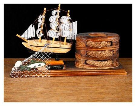 Набор настольный «Корабль» с подставкой для ручек, 25 х 14 х 8 см  NNB