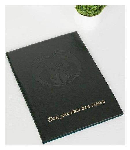 Папка для документов, 3 комплекта, цвет зелёный  NNB