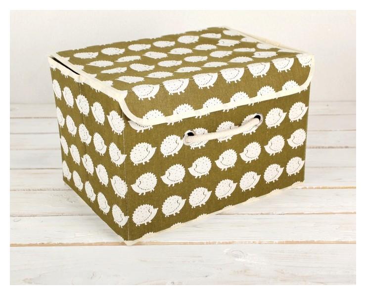Короб для хранения с крышкой 37×26×24 см Ёжики NNB