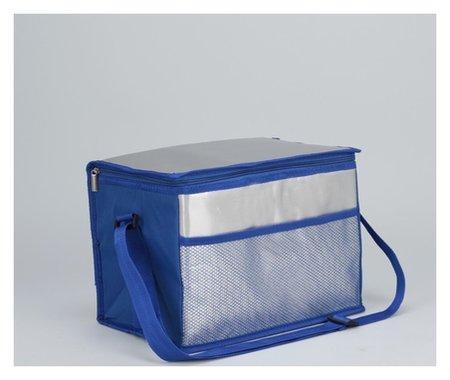 Сумка-термо, отдел на молнии, наружный карман, регулируемый ремень, цвет синий  NNB