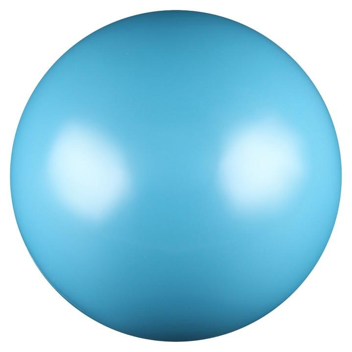 Мяч для художественной гимнастики, силикон, металлик, 15 см, 300 г, Ab2803, цвет голубой  NNB