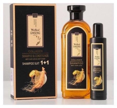 Набор шампунь с корнем женьшеня и кондиционер для волос с женьшенем