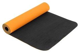 Коврик для йоги 183 х 61 х 0,6 см, двухцветный, цвет оранжевый