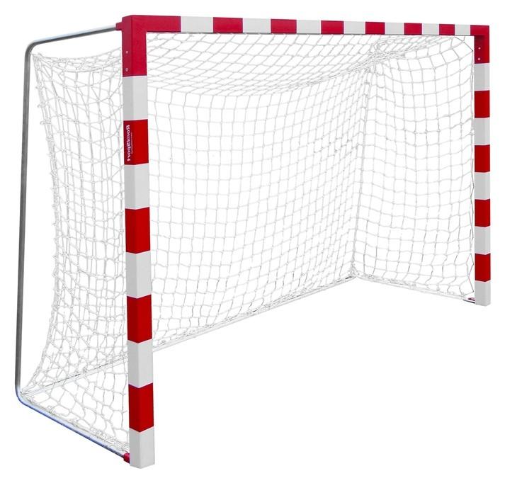 Сетка для гандбола/мини-футбола, нить 2,2 мм, ячейки 100 х 100, 2 шт., цвет белый/синий  NNB
