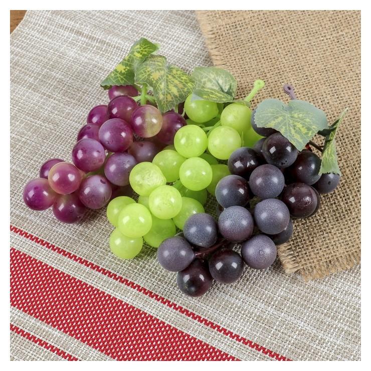 Искусственный виноград, 22 ягоды, матовый  NNB
