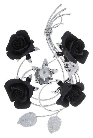 Подсвечник Black Flowers на одну свечу  Napoleon