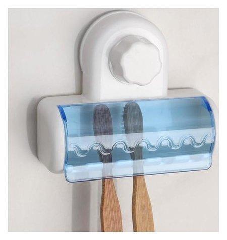 """Держатель для зубных щёток на вакуумной присоске """"Белая коллекция""""  NNB"""
