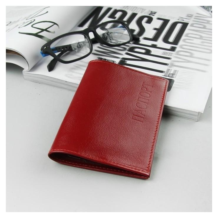 Обложка для паспорта, ладья, цвет красный матовый  Cayman