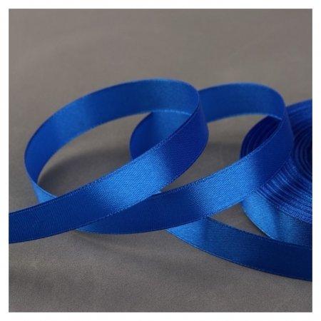 Лента атласная, 12 мм × 33 ± 2 м, цвет синий №040  Gamma