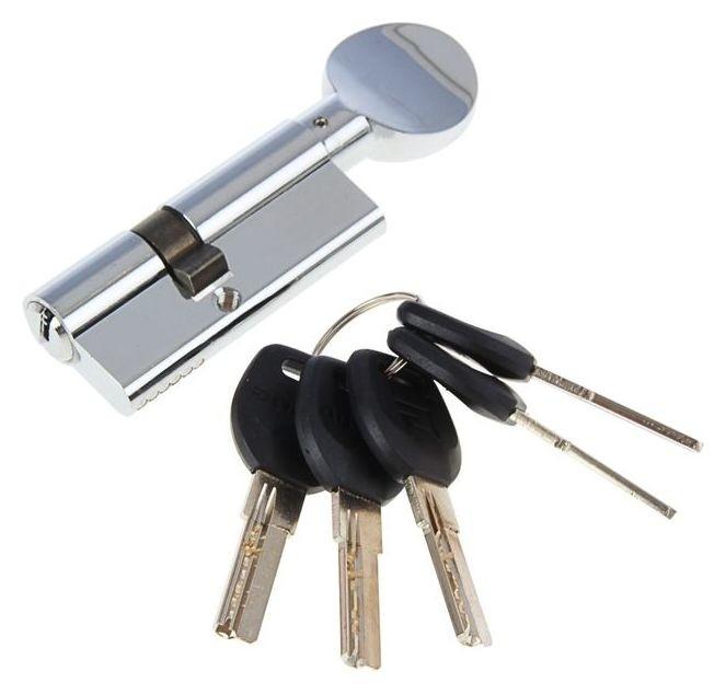 """Цилиндровый механизм """"Аллюр"""" HD FG 70-5к CP, с перфоключом, с верт., 25x10x35 мм,цвет хром  Аллюр"""
