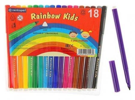 Фломастеры Rainbow Kids, 18 цветов  Centropen