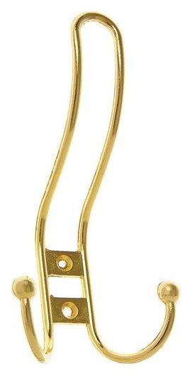 Крючок мебельный Km303gp, трёхрожковый, цвет золото  NNB