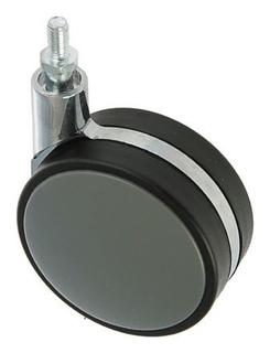 Колесо мебельное, D=82 мм, с футоркой, без тормоза, пластик, серое