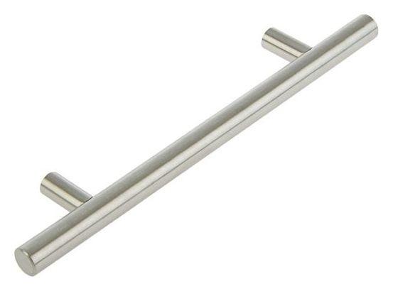 Ручка рейлинг, облегченная, D=12 мм, м/о 128 мм, цвет мат. никель NNB