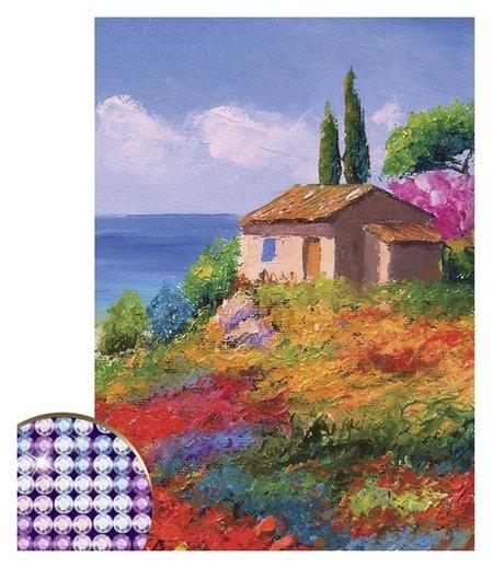 Алмазная вышивка с частичным заполнением «Пейзаж», 15 х 21 см. набор для творчества  Школа талантов