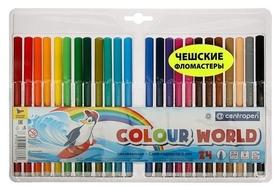 Фломастеры смываемые Colour World, 24 цвета  Centropen