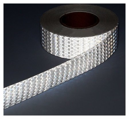 Светоотражающая лента, самоклеящаяся, белая, 5 см х 25 м  NNB