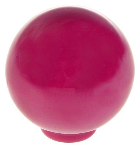 Ручка кнопка Plastic 008, пластиковая, сливовая  NNB