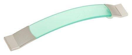 Ручка скоба Plastic 005, пластиковая, м/о м/о 128 мм, зеленая  NNB