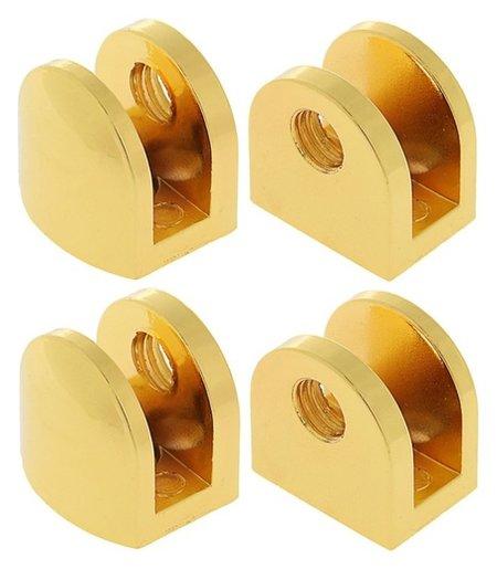 Полкодержатель P108gp, 8 мм, 4 шт в наборе, цвет золото  NNB