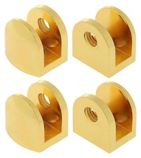 Полкодержатель P110gp, 10 мм, 4 шт в наборе, цвет золото  NNB