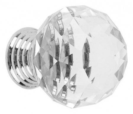 Ручка кнопка St001, D=30 мм, цвет хром NNB